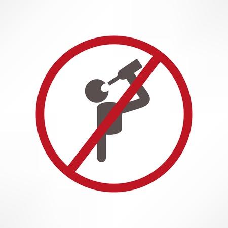 divieto: Nessun segno di alcol  Vettoriali