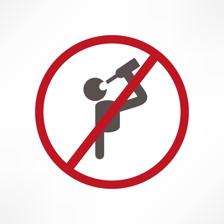 prohibition signs: No alcohol sign Illustration
