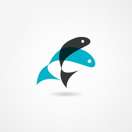 pez cristiano: icono de los pescados Vectores