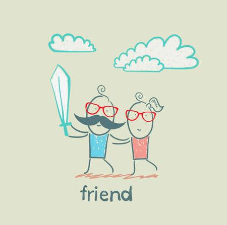 woman smile: friend