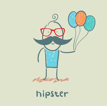 hipster Stock Vector - 21445839