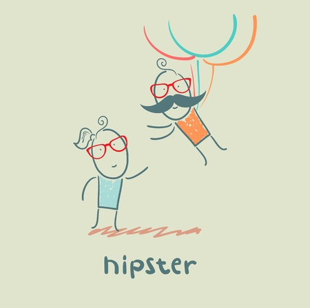 hipster Stock Vector - 21445828