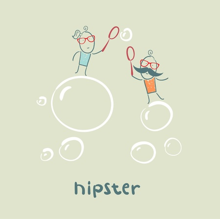 soap bubbles: hipster