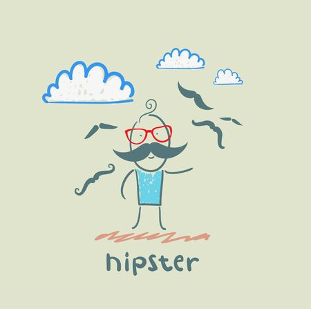 hipster Stock Vector - 21446032