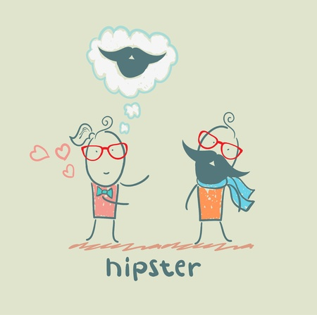 hipster Stock Vector - 21446025