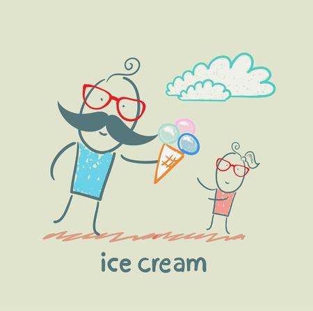 ice cream vanilla: ice cream