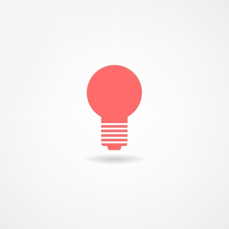 lightbulb icon Stock Vector - 21446228