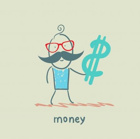 caricaturas de personas: dinero