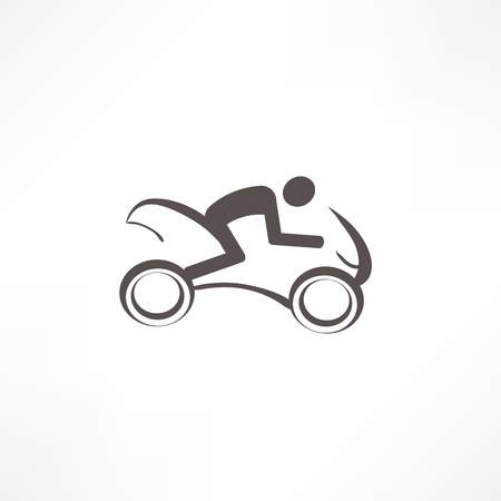 motorcyclist icon Vector