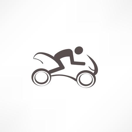 motorradhelm: Motorradfahrer icon Illustration