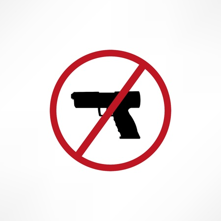 security symbol: No firearms symbol