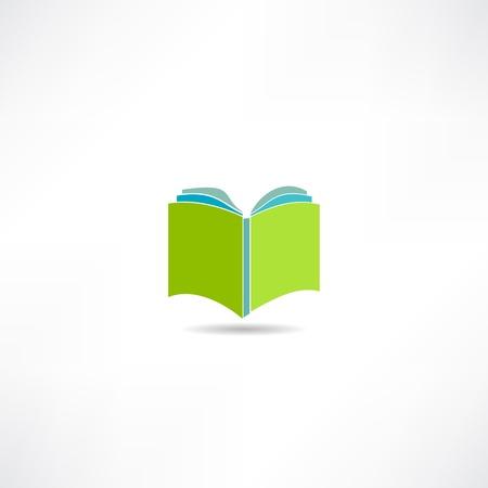 ebook cover: book icon Illustration