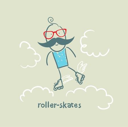 speed skating: roller-skates