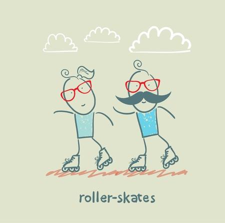 inline skate: roller-skates