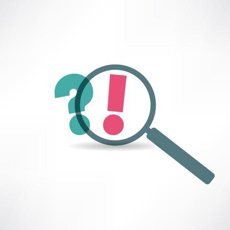 signo de interrogacion: Signo de interrogación y el icono de signo de exclamación Vectores