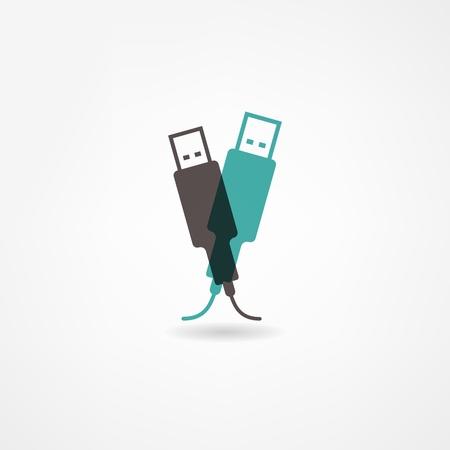 storage device: usb icon Illustration