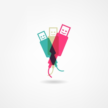 usb disk: usb icon Illustration