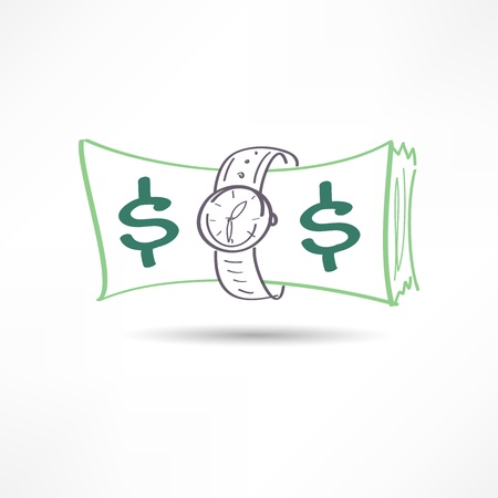 time is money icon Illustration