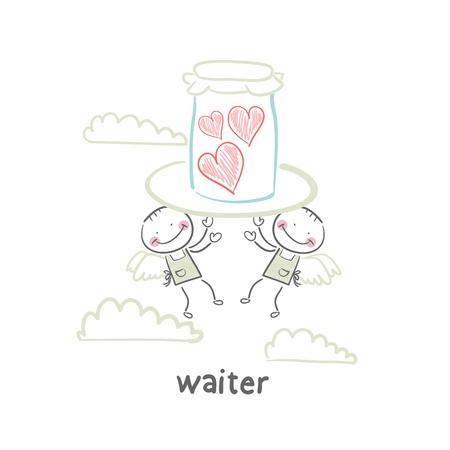 french cafe: waiter