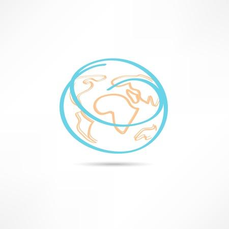 Earth icon Stock Vector - 21449954