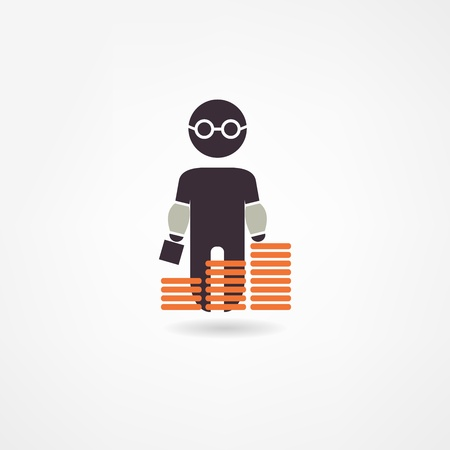 bookkeeper: accountant icon Illustration