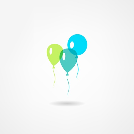 red balloons: balloons icon
