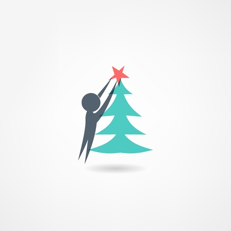 christmastide: decoration icon Illustration