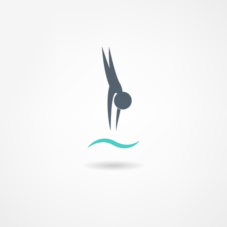 pool symbol: swimming icon
