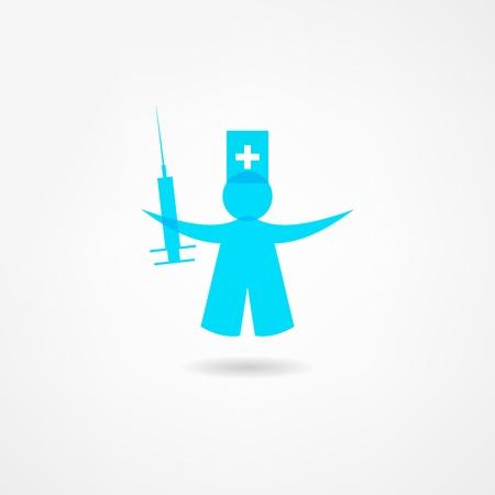 hiv ribbon: medicine icon Illustration