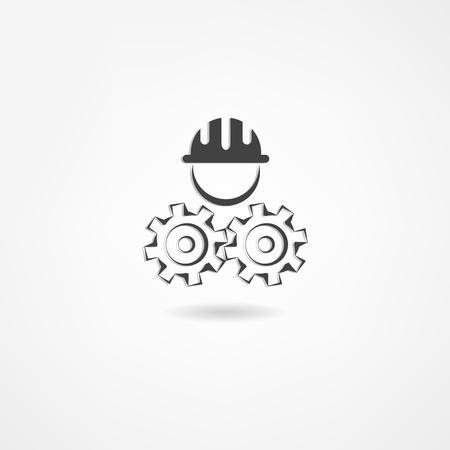 Icône ingénieur Banque d'images - 21450611