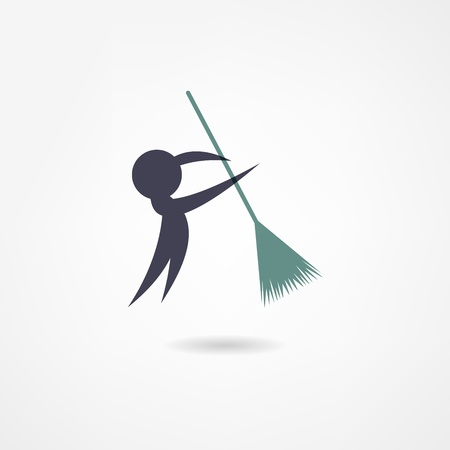 carpet clean: janitor icon