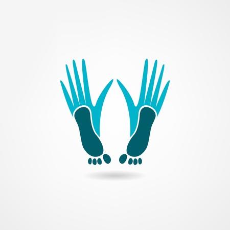 10 fingers: footprint icon