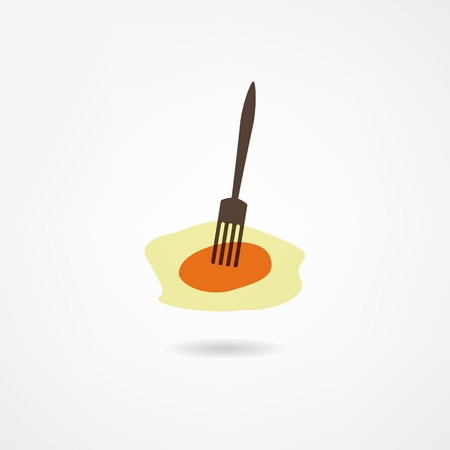 scrambled eggs icon Vector