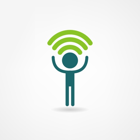 radio station: wifi icon Illustration