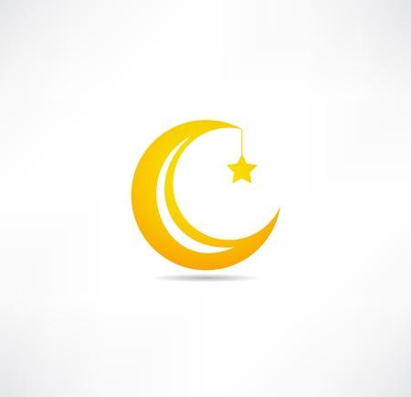Maan en ster pictogram