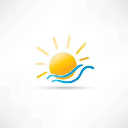 Sonne und Meer Icon