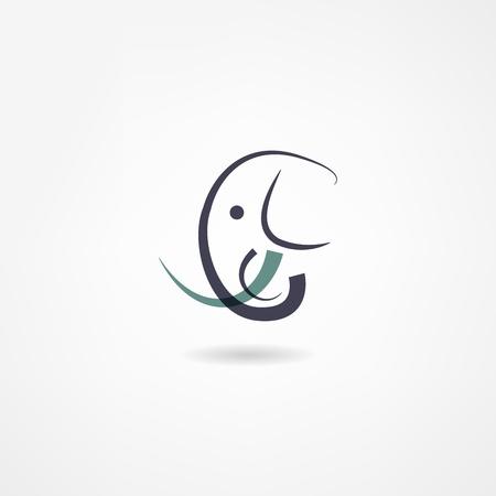 elephant icon 向量圖像