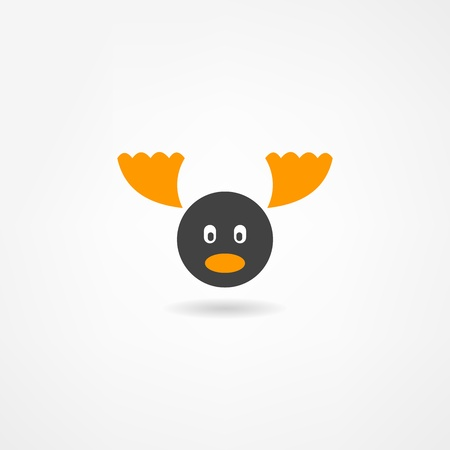 santa moose: elk icon