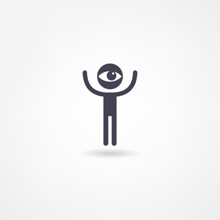 arte optico: ojo icono