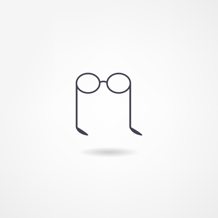 eyewear fashion: glasses icon