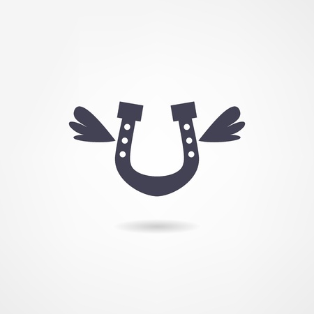 horseshoe icon Vector