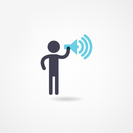 loud speaker: speaker icon Illustration