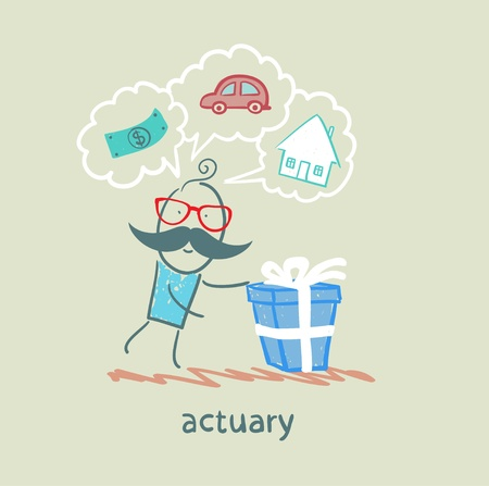 financial advisors: actuary with a gift in which the cars, houses, money
