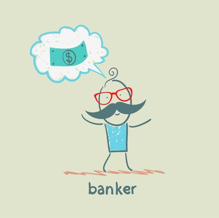 banker: banker thinks about money