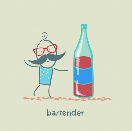Bartender is a great bottle of wine