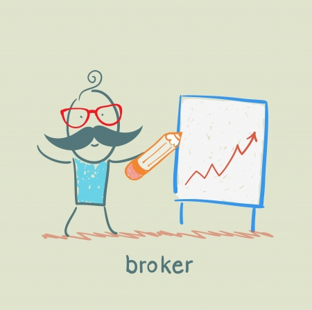 broker draws a graph 矢量图像
