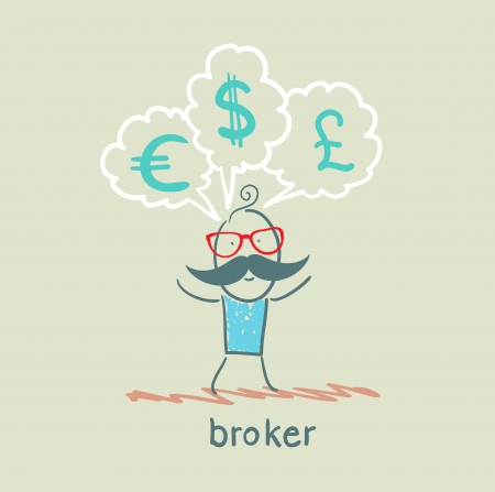thinks: broker thinks of different currencies