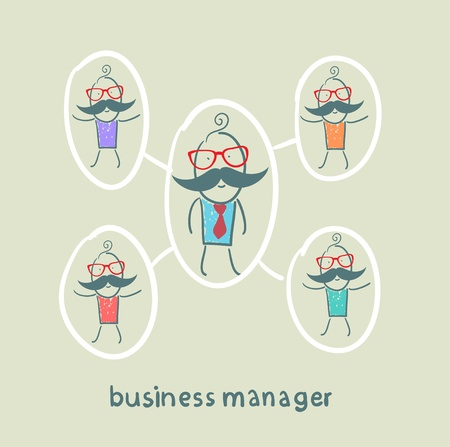 manager: business manager and his staff