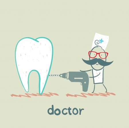 Sverdlov tooth doctor Vector