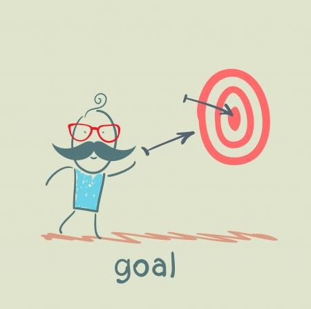 man shoots at a target